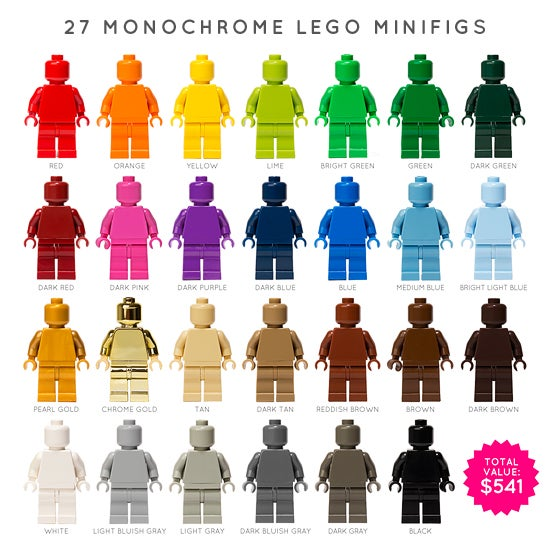 Image of SET OF 27 LEGO MONOFIGS