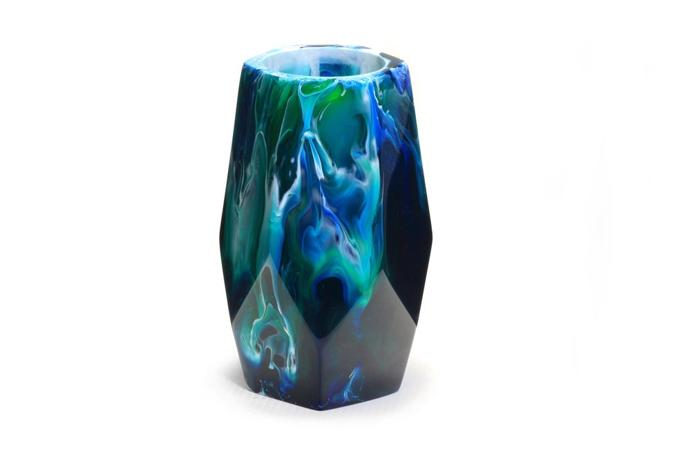 Image of Emerald Angular Vase