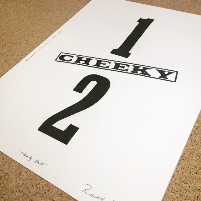 Image of Cheeky half print by Hooksmith Press - 10% off
