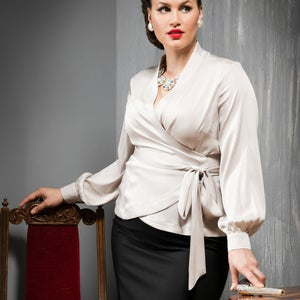Image of UPPER EAST SIDE SILK BLOUSE 3