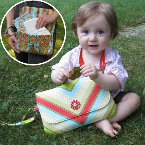 Image of Grab 'n Go Diaper Clutch Sewing Pattern