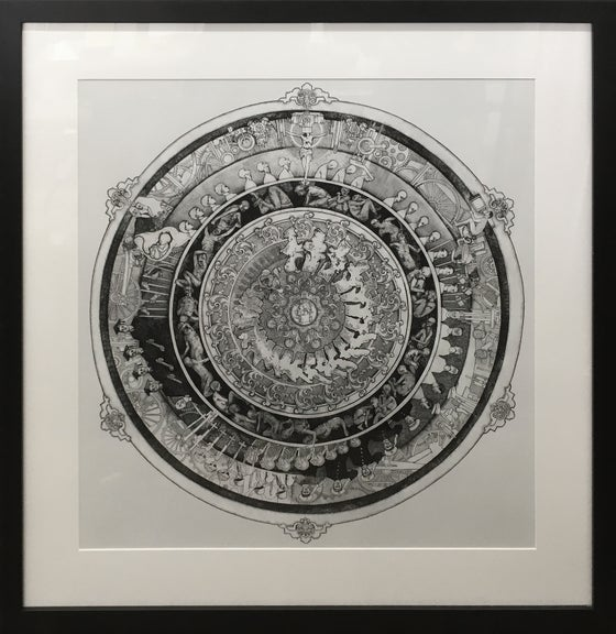 Image of Welcome To The Machine - Giclee`, Framed