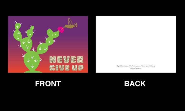 Image of Never Give Up Greeting Card Pack (2017)