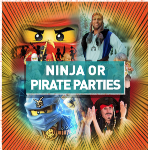 Image of Ninja or Pirate Parties - It's fun on the high seas Or master the ancient arts of Ninjitsu