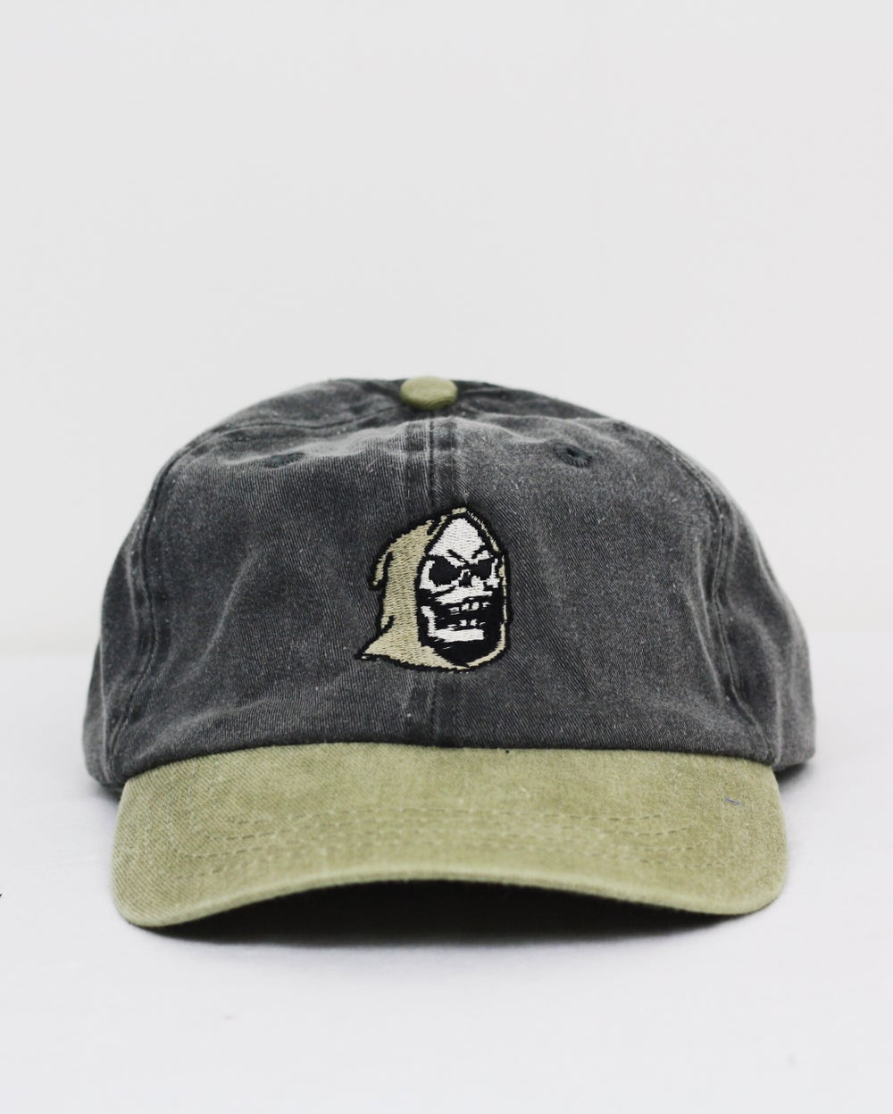 Image of Skele-tor cap - tan/charcoal grey