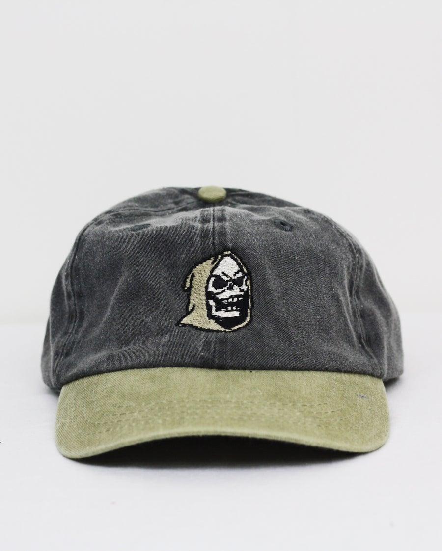 Image of Skele-tor cap - tan/charcoal grey