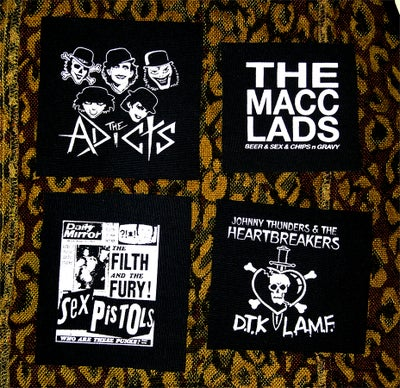 Image of Pick 1 patch - The Adicts, Macc Lads, Sex Pistols, Johnny Thunders