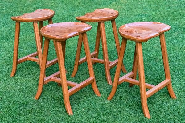 Image of Rosenberg cherry stool- Set of 4