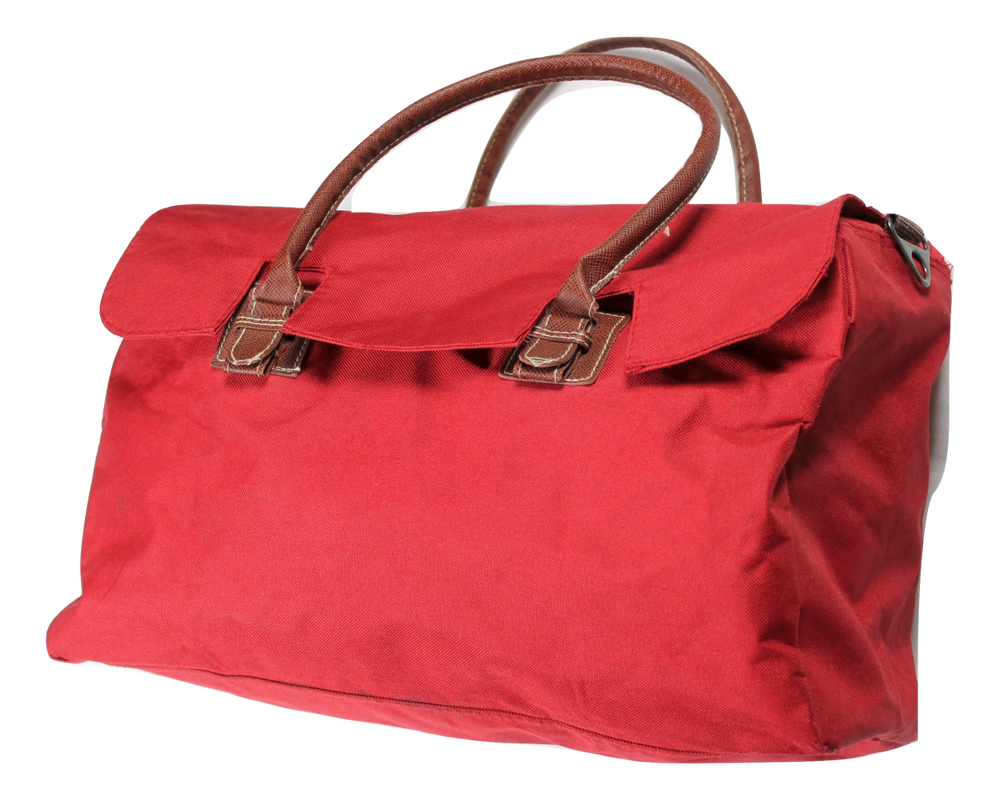 Image of Red Duffle Bag