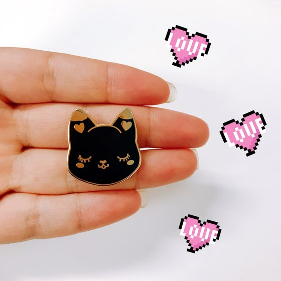 Image of Cutie Pie Black Cat pin (Fundraiser)