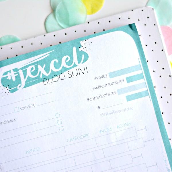 Image of J'Excel suivi blog Bloc-Note A5
