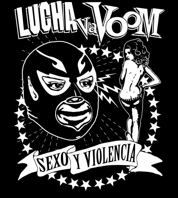 """Image of Lucha VaVOOM """"X-Ray Specs"""" Tee"""