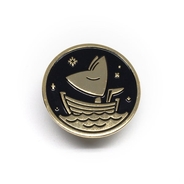 Image of Moon Fox lapel pin
