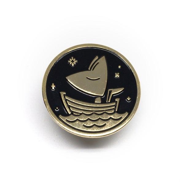 Image of Moon Fox lapel pin