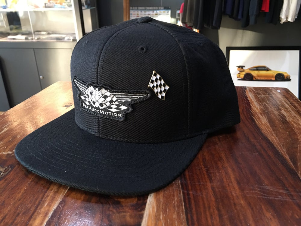 Image of Fly AutoMotion Winning Patch & Pin SnapBack Hat.