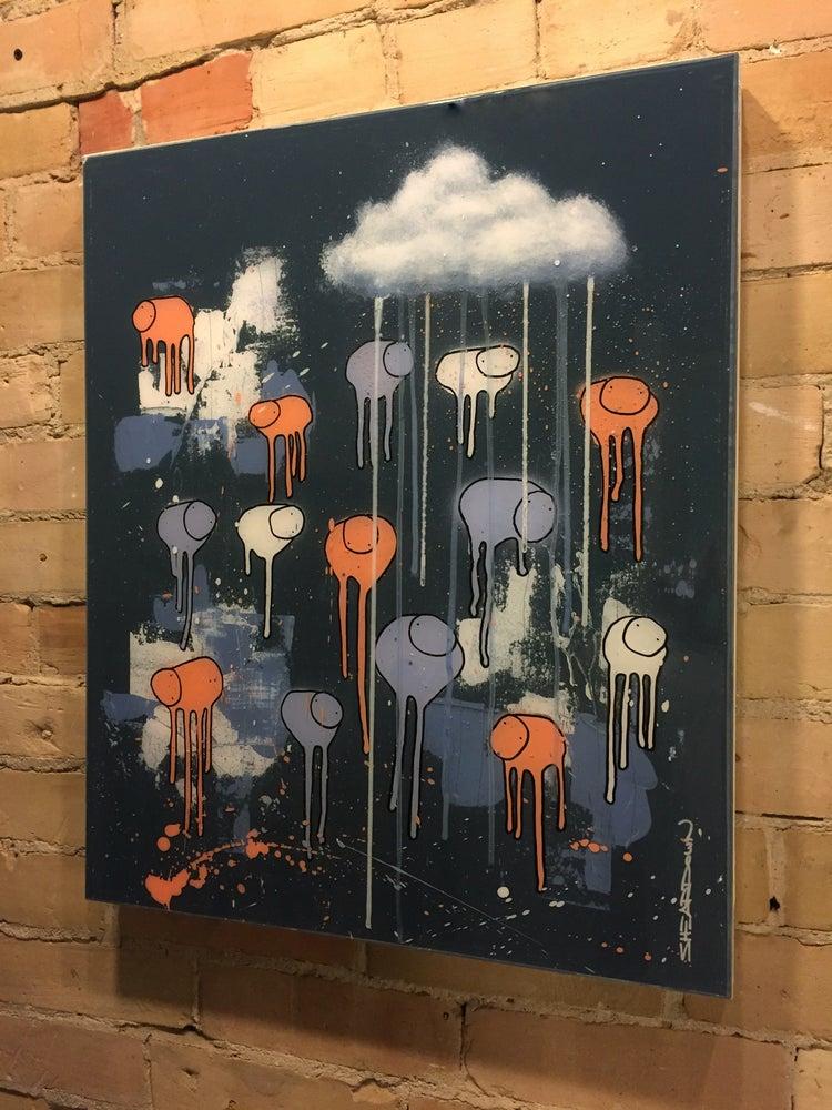 "Image of Raining Cows, ""MIDNIGHT SYMPHONY"" 18""X24"""