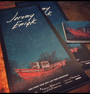 "Image of Jeremy Enigk (East Coast Tour 2017) • Limited Edition Official Poster (12"" x 24"")"
