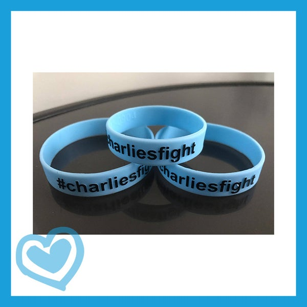 Image of Charlie's Fight Babyblue Wristbands #201702