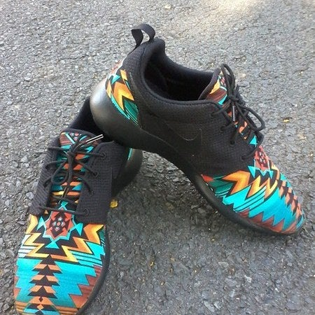 "Image of Custom Nike Roshe One""Southwest Blackout"""