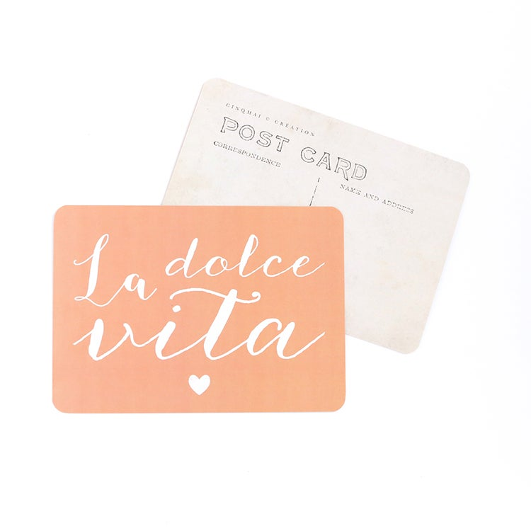 Image of Carte Postale LA DOLCE VITA