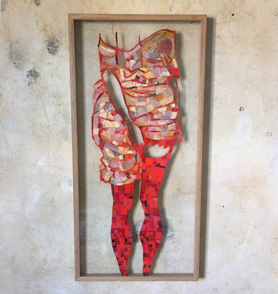 Image of Red legs - inspired by Schiele