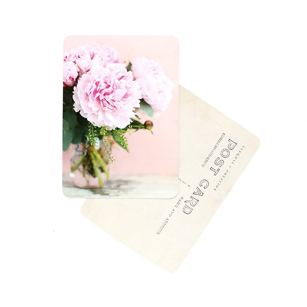 Image of Carte Potale PIVOINES / ROSE & PÊCHE