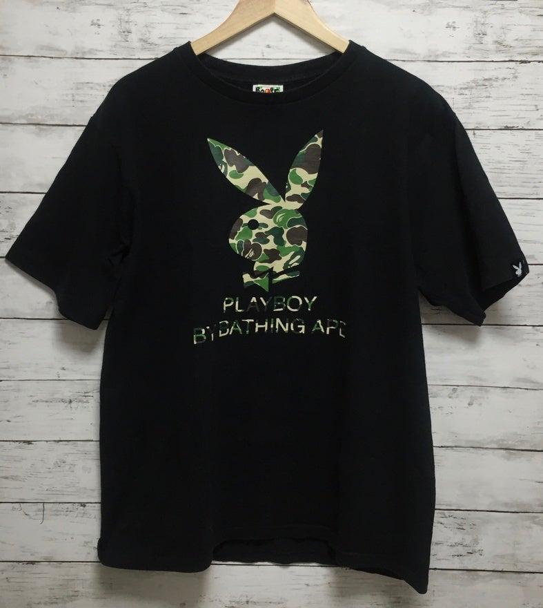 Image of BAPE x Playboy Capsule Collection (RARE) Camo T-Shirt