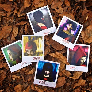 Image of The Path - Red Girls polaroid cards