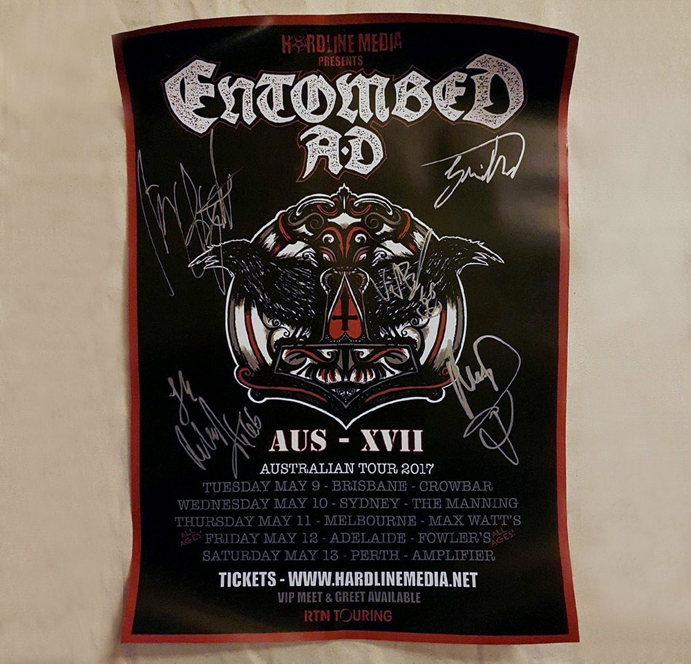 Image of POSTER (SIGNED) - Entombed AD Australian Tour 2017