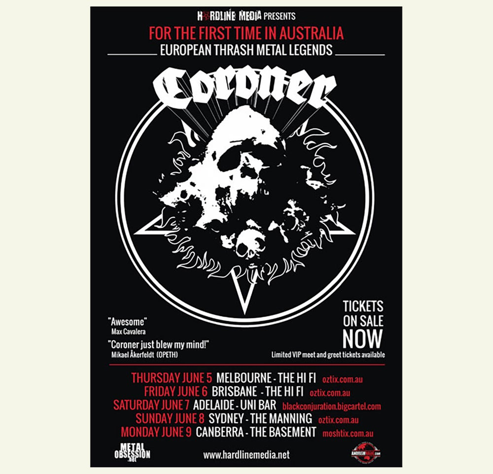 Image of POSTER (UNSIGNED) - Coroner Australian Tour 2014