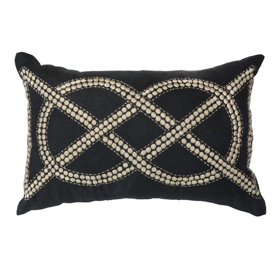 Image of Black Knot Cushion