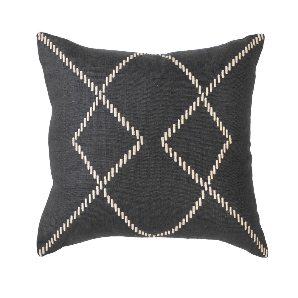 Image of Stitched Black Cushion