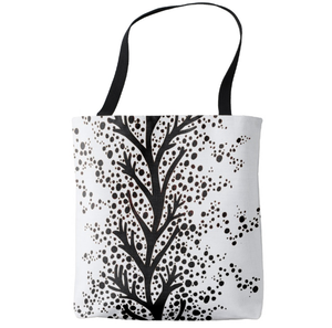 Image of Market Tote, Scandinavian Vines and Dots