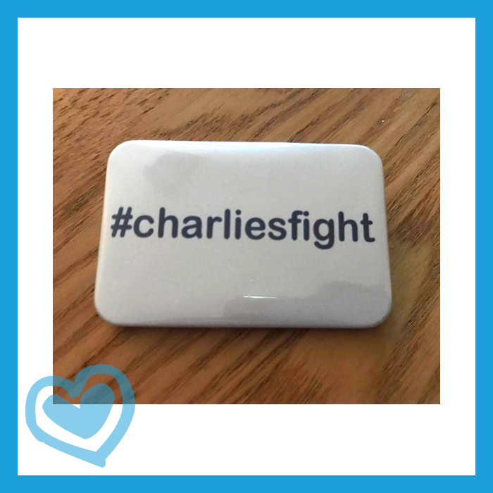 Image of Charlie's Fight White Badge #201703