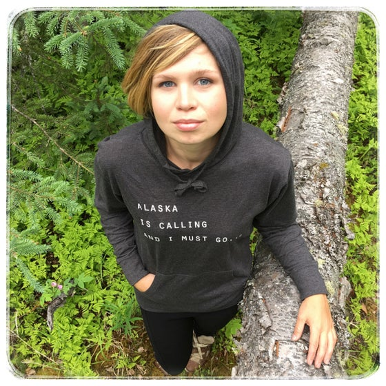 Image of Alaska is Callling Jersey Hoodie