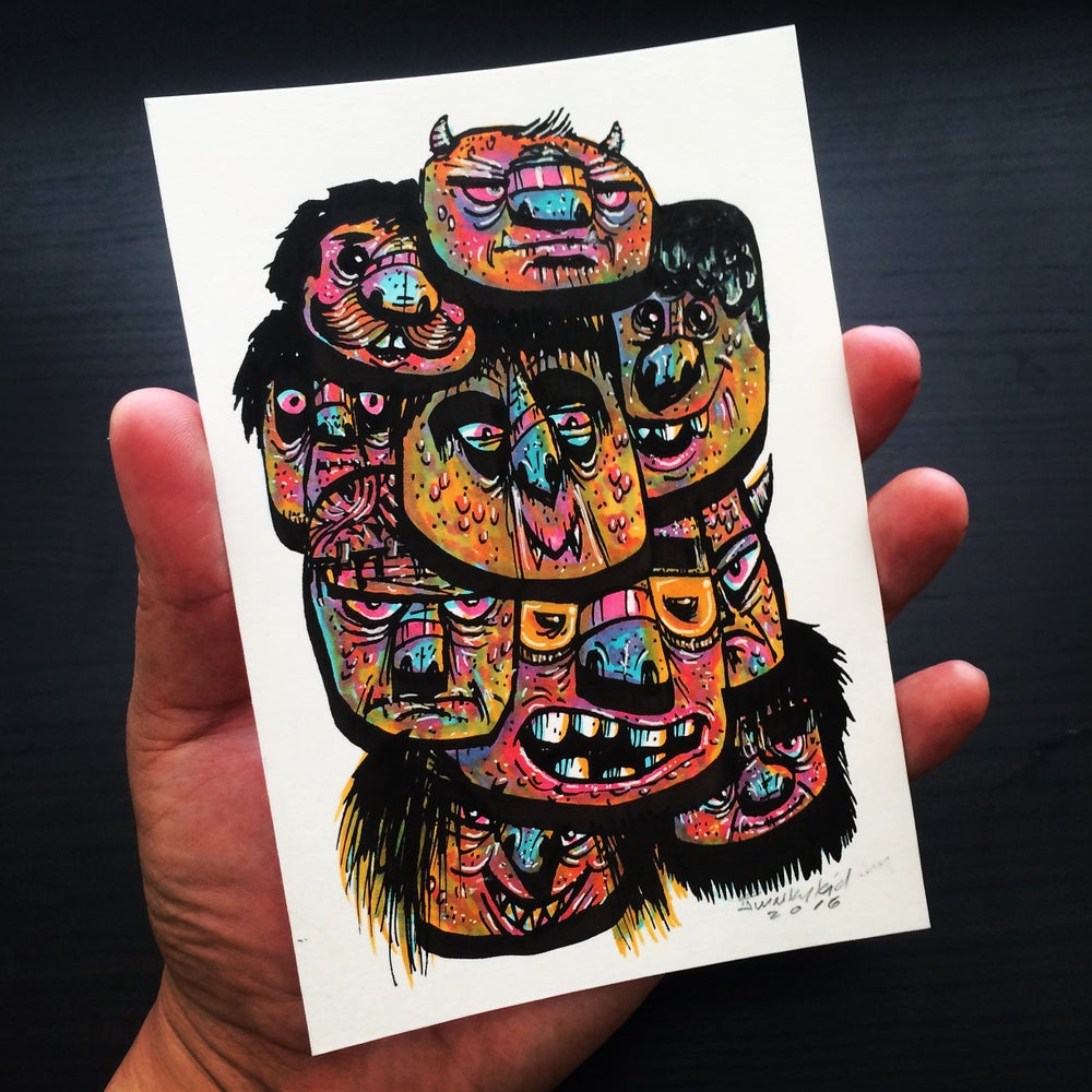 Image of Stacked Heads I