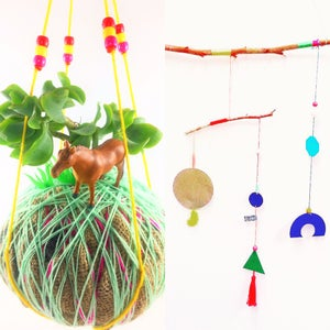 Image of *TWO FOR THE PRICE OF $45* KIDS CREATIVE KOKEDAMA & HANGING MOBILES WORKSHOP
