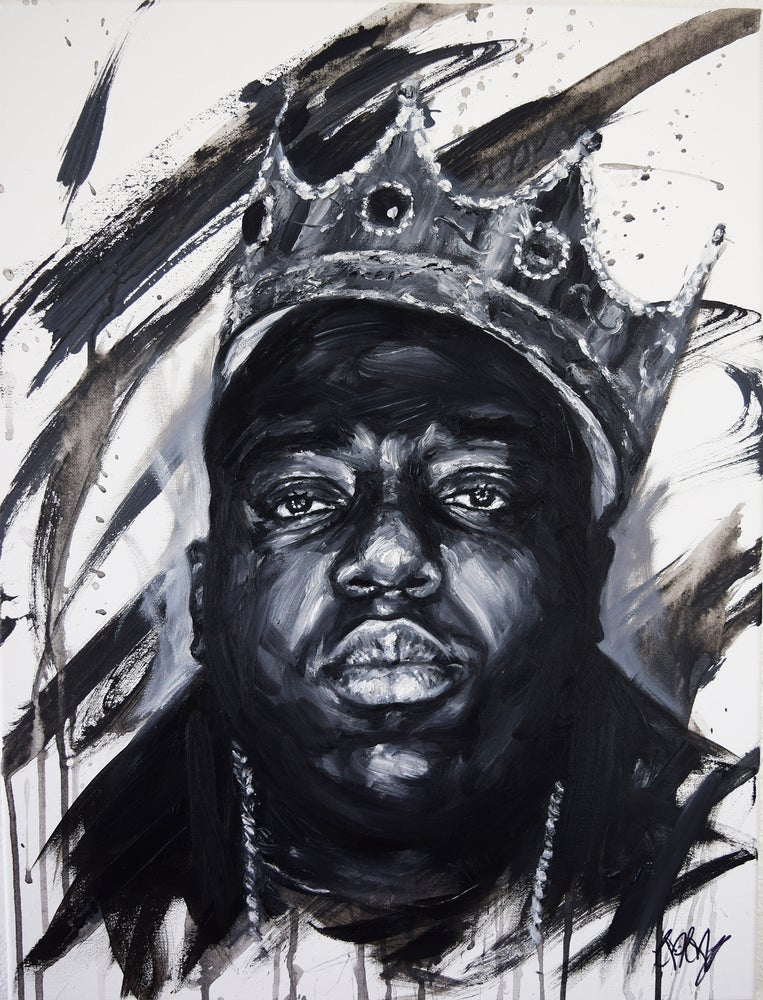 Image of Notorious B.I.G Biggie wall Painting Art Urban Decor Hip-hop Icon