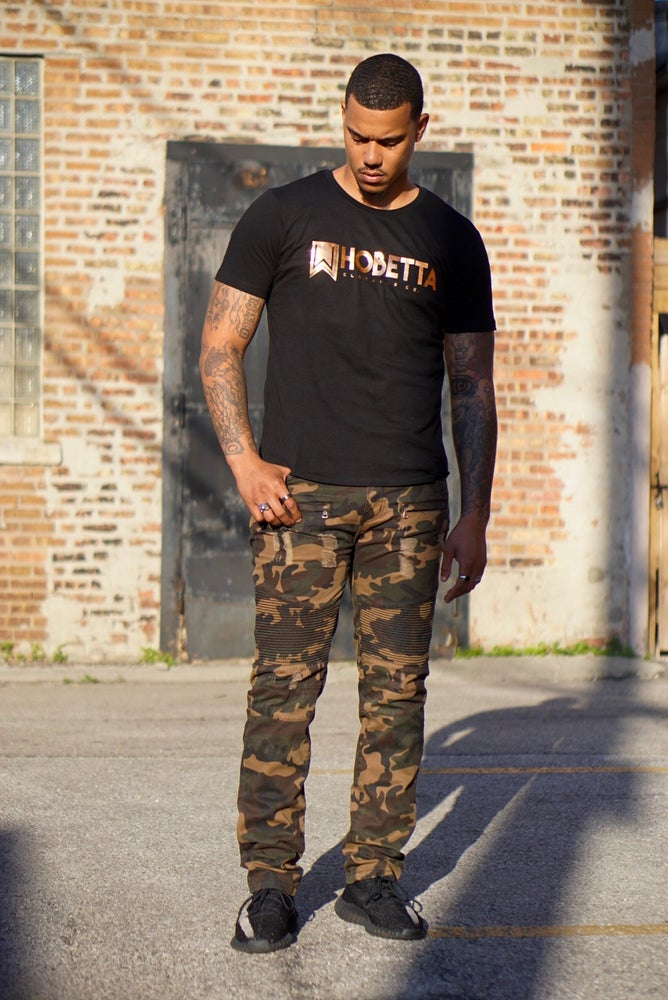Image of Camo Biker Denim