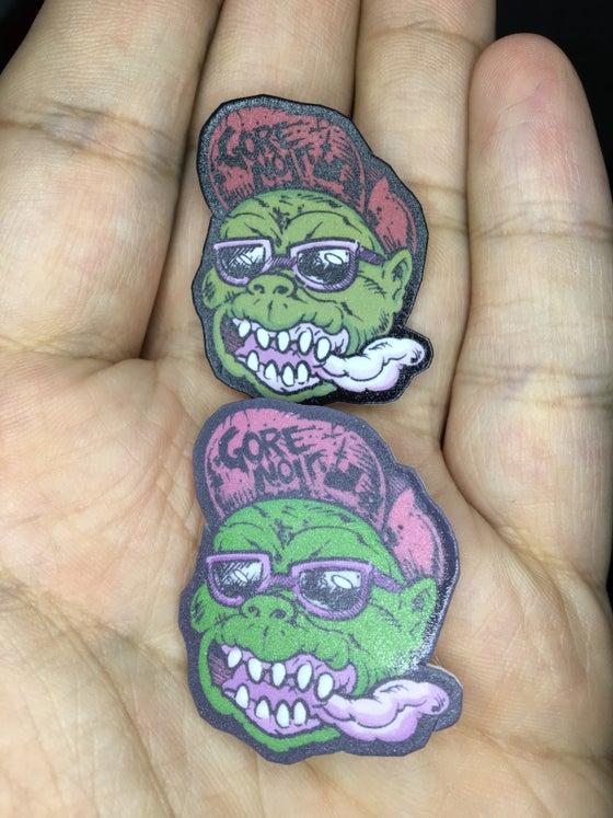 Image of Gorey Ghoulman face pin