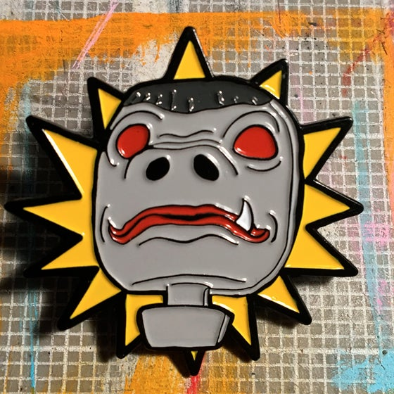 Image of Snaggletooth Action Figure Head Enamel Pin