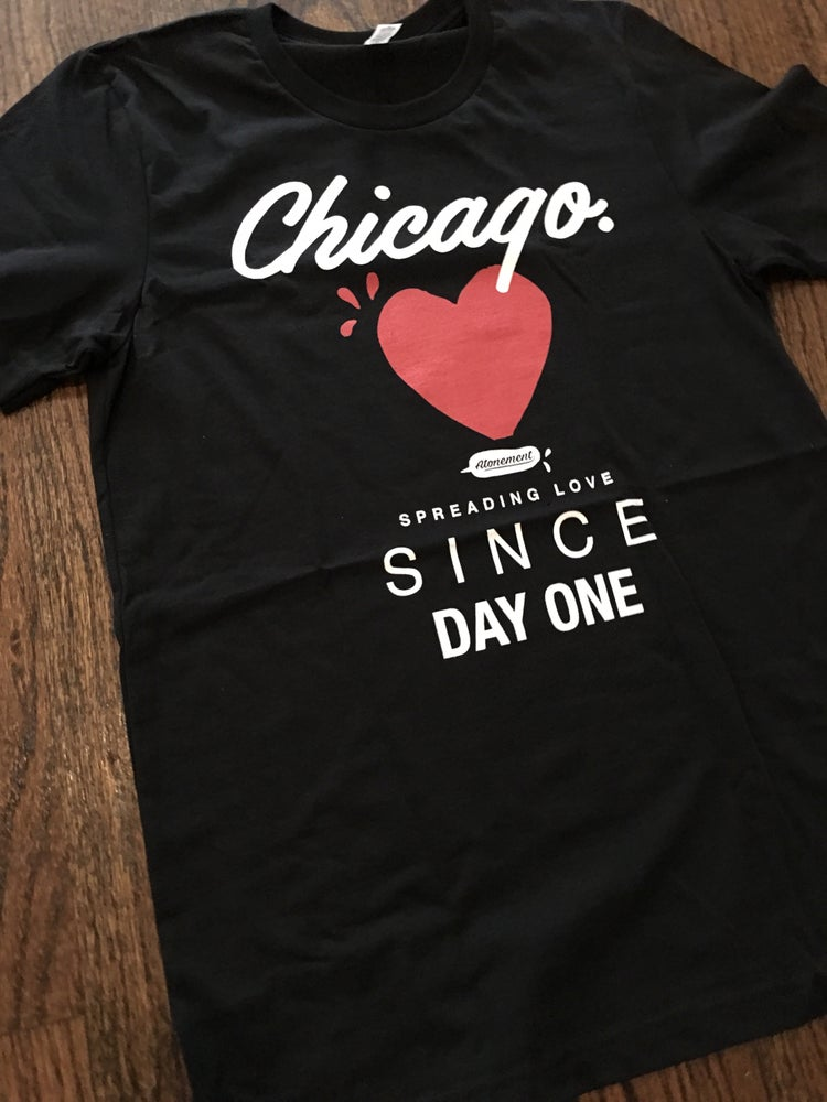 "Image of The Atonement ""Spreading Love"" Tee in Black"