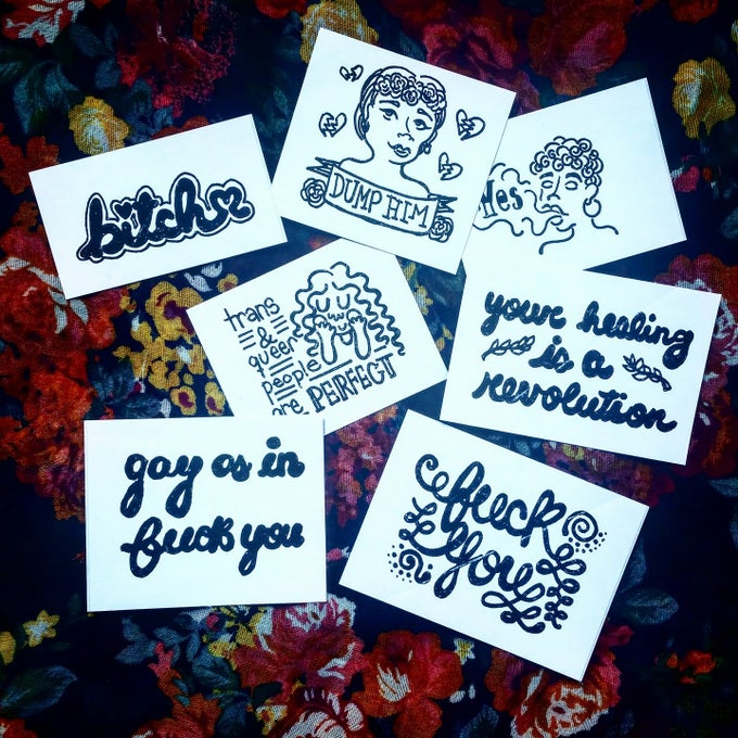 Image of Stickers (Black And White)