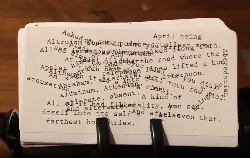 Image of Alphabet: A Rolodex Poem / Ryo Yamaguchi