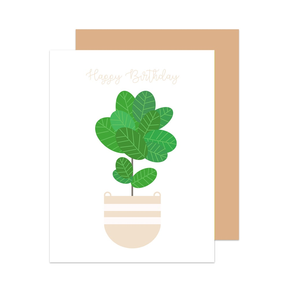 Image of Happy Birthday Fiddle Leaf Fig Card