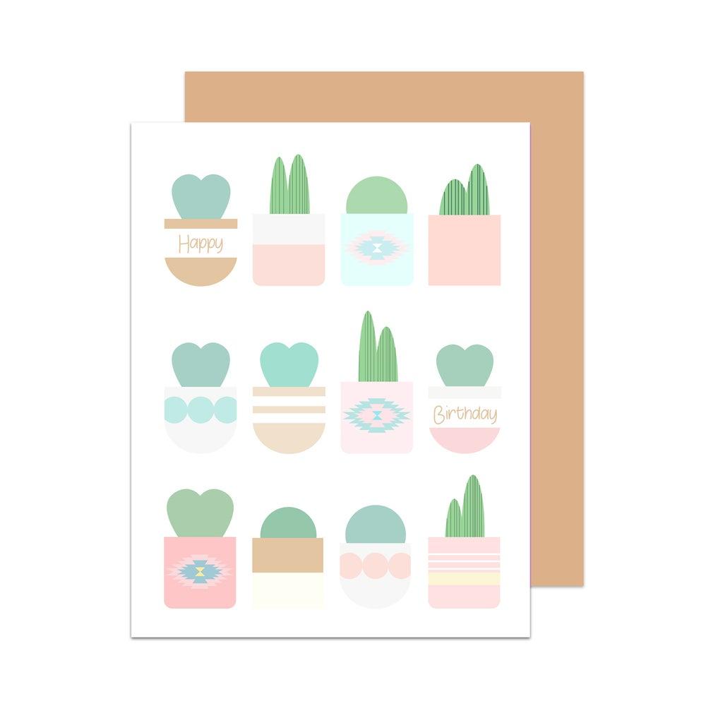 Image of Happy Birthday Cactus Card