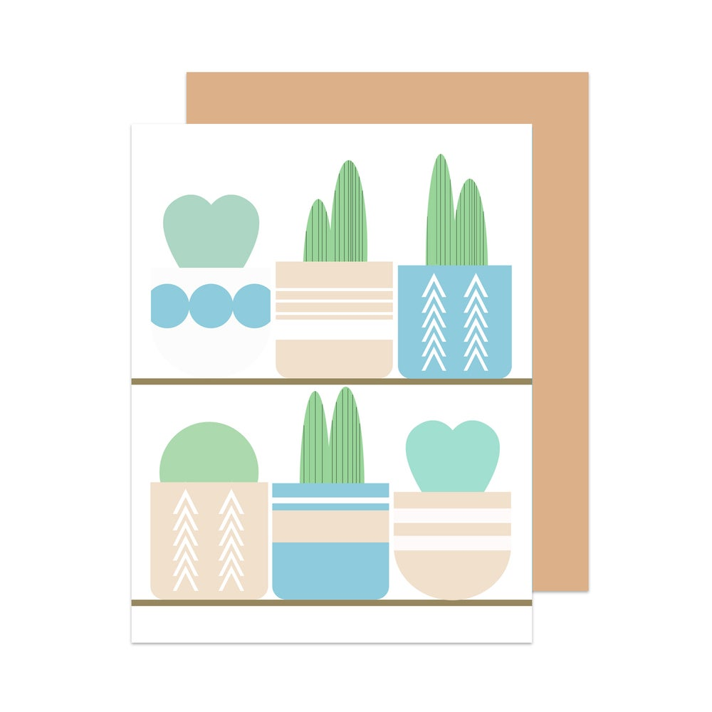 Image of Happy Birthday Cactus Shelfie Card