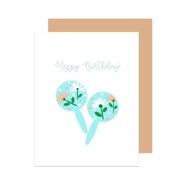 Image of Happy Birthday Maracas Card