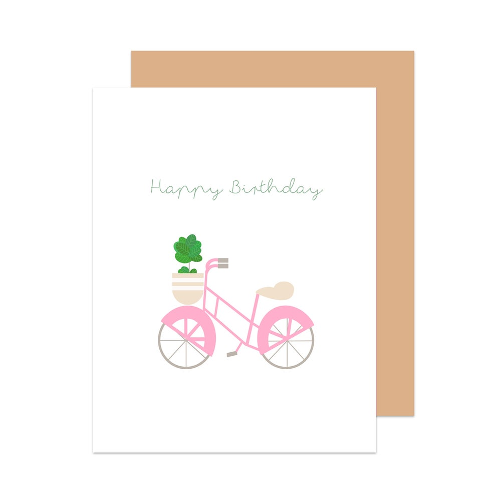 Image of Happy Birthday Bicycle Card