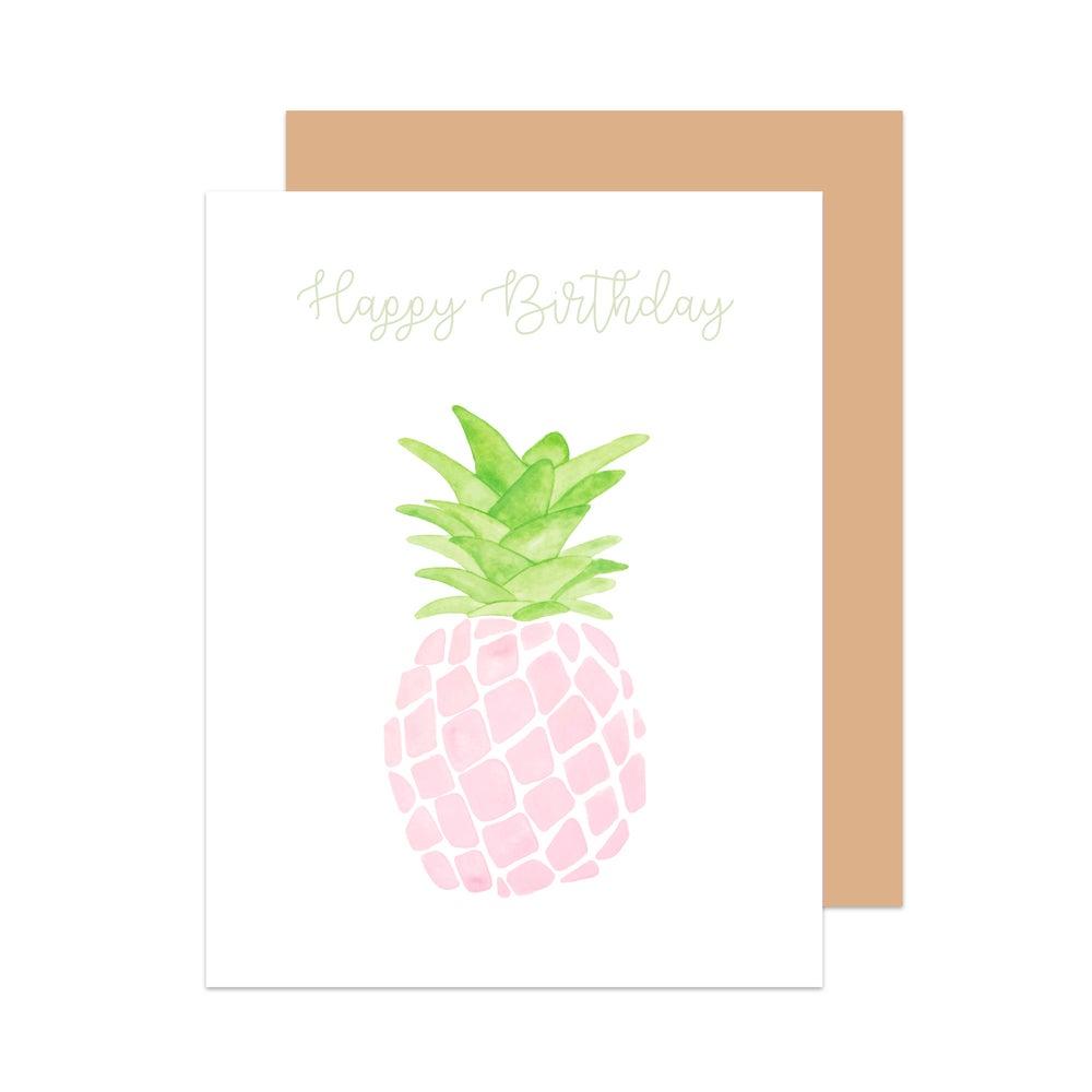 Image of Happy Birthday Pineapple Card